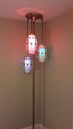 Mid Century Modern Tension Pole Lamp by ProRefineFurnishings