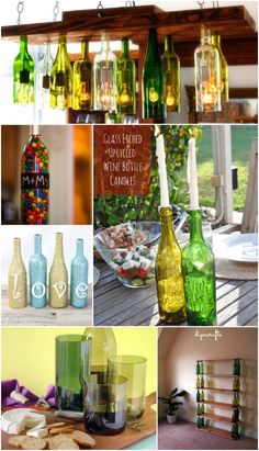 Wine bottles come in all different shapes, sizes and hues, and those diverse qualities make them such versatile objects when it comes to upcycling or repurposing. I was rather taken aback when I came to realize just how many interesting and creative ways one can use these empty bottles, be it for something functional or pure décor. via @vanessacrafting