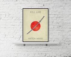 KILL BILL Movie Poster Hattori Hansso Poster Uma by BaydleCreative