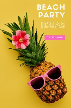 Plan your beach party with these amazing beach party ideas by Daisy Lane!  Including beach party decoration DIYs, beach theme cookie recipe, beach ball backdrop and beach party favors.  Simple yet fun beach party tips are for kids and adults.  Use these planning ideas for a summer beach party, beach bachelorette party or a beach birthday party.  Cute pineapple party favors compliment your party decor.  Beach party planning tips and party favors for your summer bash! Beach Party Favors, Summer Beach Party, Spa Party, Summer Bash, Bachelorette Party Planning, Beach Bachelorette, Hawiian Party, Hot Wheels Party, Lumberjack Party