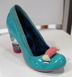 Irregular Choice candy shoes with perspex heel