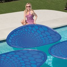 $59.95 The Solar Pool Heating Rings - Hammacher Schlemmer increase the temp by 4 1/2 degrees a day..