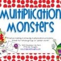 Practicing Multiplication, Arrays & Fact Triangles: Multiplication Monsters