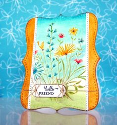 Garden Bouquet, HA, Sentiment (Papertrey Ink) Faber-Castell Design Memory Craft products used for card decoration: Gelatos, Art GRIP Aquarelle pencils,pastel pencils