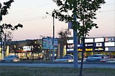 Streets in Minsk in the evening