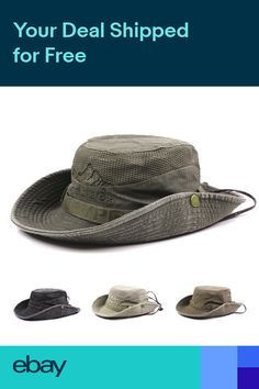 baac96b1449 Mens Cotton Fisherman Embroidery Bucket Hat Climbing Mesh Breathable with  Brim