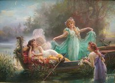 he just cant go wrong! Incredible Hans Zatzka  1859 - 1945  Vienna, Austria