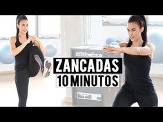Tonificar glúteos y piernas con zancadas - 10 minutos - YouTube