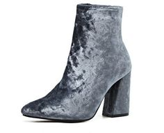 Gemma Velvet Ankle Boots  #boot #up #boots #heel #suede #royal #fashion #clothing #chic #boho #trend #trendy #trending #ootd #musthave