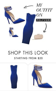 """""""Blue Classic"""" by courtney1248 on Polyvore featuring Jessica Simpson and Oscar de la Renta"""