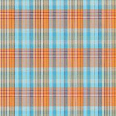 Checks July 1 - Baumwolle - Polyester - Elasthan - orange