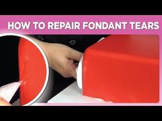 How To Repair Fondant Tears by www SweetWise com - YouTube