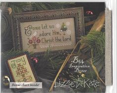 Christmas Lizzie Kate Come Let Us Adore Him Boxer Cross Stitch Kit #LizzieKate #Sampler
