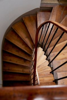 "This beautiful wooden staircase is from our feature ""Pocketsized Paris"""