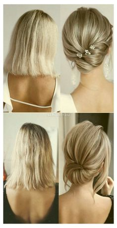 Bridal Hair Updo, Wedding Hair And Makeup, Short Bridal Hair, Medium Length Bridal Hair, Short Hair Updo, Braids For Long Hair, Mother Of The Bride Hair Short, Wedding Hair Mother Of Bride, Short Hair For Brides