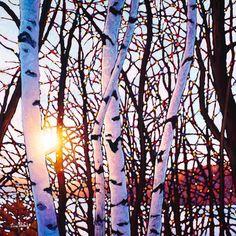 Original oil paintings by Canadian artist, Tim Packer at Antony's Prestige Gallery Landscape Quilts, Landscape Paintings, Art Paintings, Landscapes, Aspen Trees, Birch Trees, Klimt Art, Snow Art, Diy Art Projects