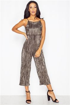 Isabella Gold Cullote Jumpsuit