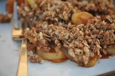 """Coconut Sugar Apple Crisp, gluten free, low """"sugar"""".  Love this website!!  Everything I've made by them (which is a lot!) has been loved by my whole family."""