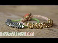DaWanda DIY: Flechtarmband mit Muttern selber machen