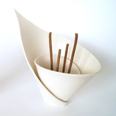 Made to order White porcelain lily incense burner tealight holder votive candles zen decor spiral calla arum wedding gift