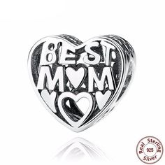 925 Sterling Silver Charm 24 Styles Mom Heart Family Pendant Mother Gift Charm Beads Pendant fit Charm Bracelet Gift for Mother Diy Jewelry Gifts, Pandora Bracelet Charms, Charm Bracelets, Valentines Jewelry, Love Charms, E Bay, Silver Charms, Silver Beads, Mother Gifts