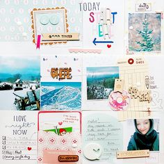 Ewa for Gossamer Blue - very cool project life style page with lots of fun details and textures.