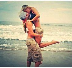 #Lesbian #LGBT Hot Lesbian couple kissing on the beach