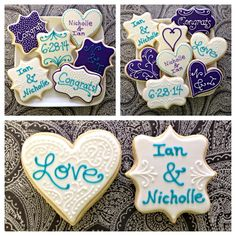 Wedding Engagement Cookies ~ Cookie Connection