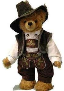 Hermann Bear is dressed for Oktoberfest.