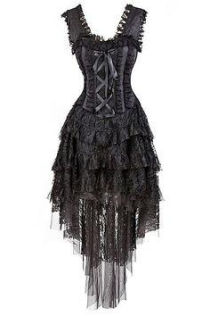 Burlesque Outfit, Corset Outfit, Burlesque Corset, Vintage Burlesque, Edgy Dress, Goth Dress, Gothic Corset Dresses, Dark Fairy Costume, Goth Skirt