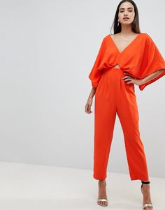 Buy ASOS DESIGN jumpsuit with kimono sleeve and peg leg at ASOS. With free delivery and return options (Ts&Cs apply), online shopping has never been so easy. Get the latest trends with ASOS now. Asos, Kimono, New Outfits, Cool Girl, Fashion Online, Latest Trends, Fitness Models, Womens Fashion, Fashion Trends