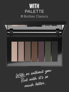 Seven higly pigmented #eyeshadows with a silky texture and extreme shading are enclosed in a stylish and compact case. WITH is the perfect #palette for real #smokeyeyes addicted. From matte shades to metallic textures, these dramatic, rich colors add an extra depth of color to any eye look. Use them to illuminate and define or create show-stopping smoky eyes: are you ready to play?