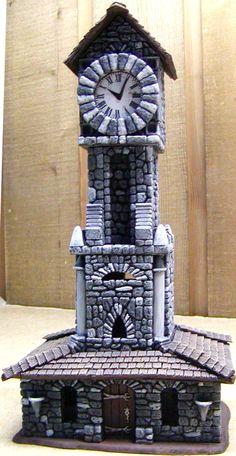 Nirriti_The_Black's Clock Tower made with Hirst Arts blocks.