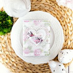 Spellbinders | Simple Layered Mother's Day Card using S4-136 Nestabilities Classic Heart Etched Dies, S5-204 Shapeabilities Lace Hearts Etched Dies, SDS-065 Swallow Stamp And Die Set From The Spring Love Collection By Stephanie Low