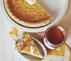 A Beautiful Mess: halfway homemade buttermilk & honey pie.  A good way to use up extra buttermilk.