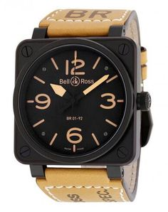 Bell And Ross Homme Montre Analogique Automatique Saphir Tag Heuer, Seiko, Black Face Watch, Cartier Ballon Bleu, Mens Watch Brands, Bell Ross, Automatic Watches For Men, Mens Watches Leather, Casual Watches