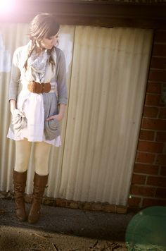Modern Day Charm: Belts and scarves are on my figure-out-how-to-wear list. Chandra pulls off both beautifully!