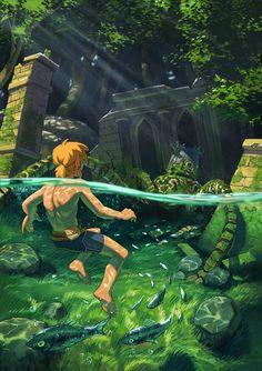 The Legend Of Zelda, Legend Of Zelda Memes, Legend Of Zelda Breath, Link Art, Breath Of The Wild, Link Zelda, Comic Games, Boy Art, Game Art