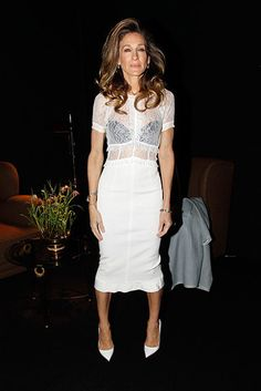 Sarah Jessica Parker... Even if I don't like her outfit, I admire her fierceness.....