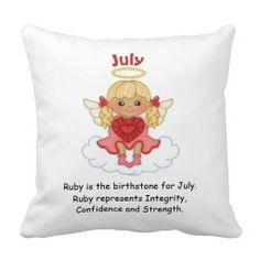 July Birthstone Angel Blonde Pillow  http://www.zazzle.com/july_birthstone_angel_blonde_pillow-189462284790299011?rf=238631258595245556
