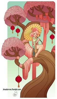 Cherry Blossom Tree Lady. :) A print of this picture is available on my online print shop. :)