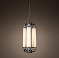 Grand Edison Milk Glass 3-Bulb Pendant