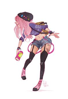 spray by Fukari.deviantart.com on @deviantART  I think its safe to say Fukari's style is one of my faves!
