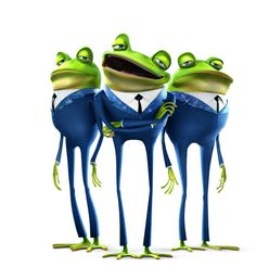 I just remembered these frogs were played by the Jonas Bros. Meet the Robinsons