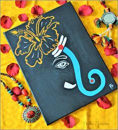 Ganesha painting, Ganpati drawings, Ganesha painting, Ganesha art work, canvas styling