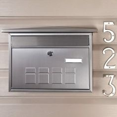 Deco Locking Wall Mount Mailbox Stainless Steel