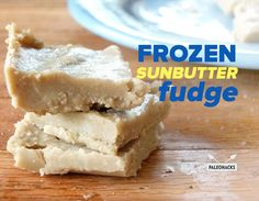 Creamy Frozen Sunbutter Fudge