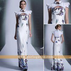 Chinese Retro styles High-collar Sheath Elegant Mermaid dresses evening dresses prom dresses party dresses new fashion