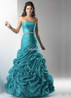 38678fa2cf Balowa Bez ramiączek Dekolt Długość-Podłogi Cyrkonie Tafta Prom Sukienki  Wieczorowe Dresses 2013