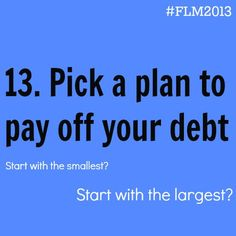 Day 13 // Financial Literacy Month #FLM2013